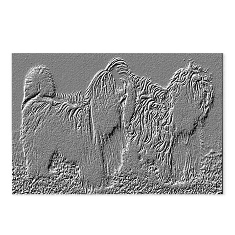 Lhasa Apso Embossed Postcards (Package of 8)