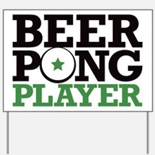 Beer Pong - Player Yard Sign