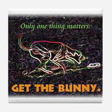 Lure course/bunny Tile Coaster