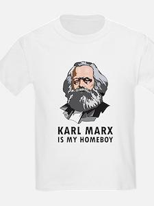 Karl Marx Is My Homeboy Kids T-Shirt