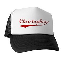 Christopher (red vintage) Trucker Hat