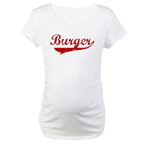 Burger (red vintage) Maternity T-Shirt