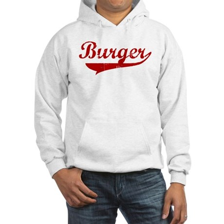 Burger (red vintage) Hooded Sweatshirt