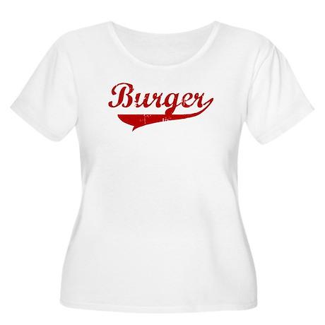 Burger (red vintage) Women's Plus Size Scoop Neck