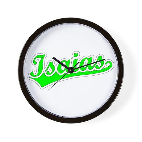 Retro Isaias (Green) Wall Clock