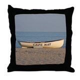 Beach shore Throw Pillows