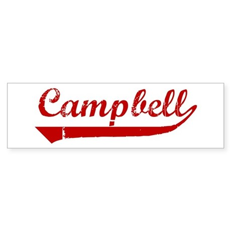 Campbell (red vintage) Bumper Sticker