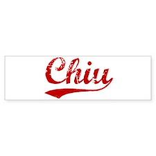 Chiu (red vintage) Bumper Bumper Sticker