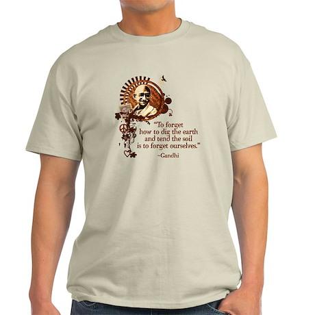 Funky Gandhi-Dig the Earth Light T-Shirt