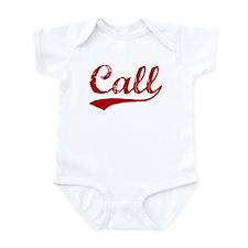 Call (red vintage) Infant Bodysuit