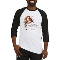 Funky Gandhi-Dig the Earth Baseball Jersey