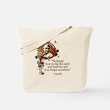 Funky Gandhi-Dig the Earth Tote Bag
