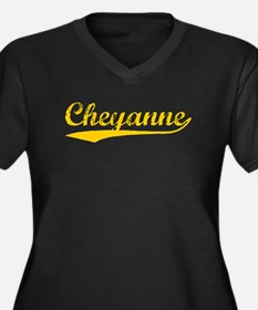 Vintage Cheyanne (Orange) Women's Plus Size V-Neck