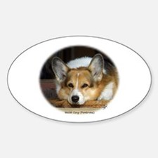 Welsh Corgi (Pembroke) Oval Decal