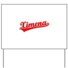 Retro Ximena (Red) Yard Sign