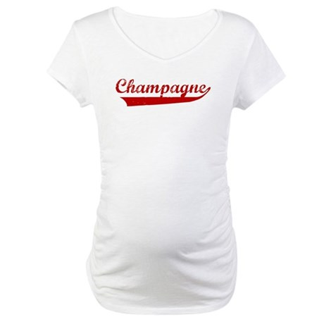 Champagne (red vintage) Maternity T-Shirt