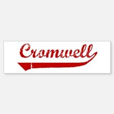 Cromwell (red vintage) Bumper Bumper Bumper Sticker