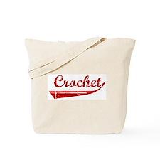 Crochet (red vintage) Tote Bag