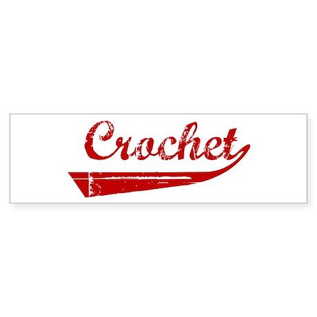 Crochet (red vintage) Bumper Sticker