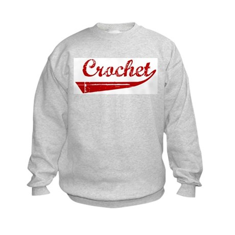 Crochet (red vintage) Kids Sweatshirt