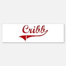 Cribb (red vintage) Bumper Bumper Bumper Sticker