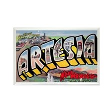 Artesia New Mexico Greetings Rectangle Magnet
