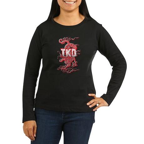 Taekwondo Dragon Women's Long Sleeve Dark T-Shirt