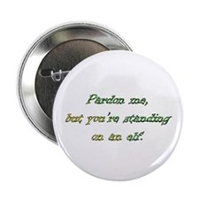 You're standing on an elf Button