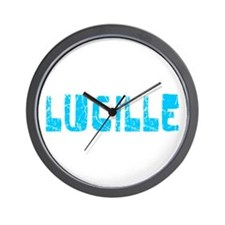 Lucille Faded (Blue) Wall Clock
