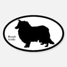 Rough Collie Silhouette Sticker (Euro Style)