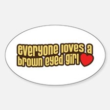Brown Eyed Girl Oval Decal