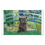 Bridge /Cairn Terrier (w) Sticker (Rectangle)
