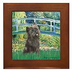 Bridge /Cairn Terrier (w) Framed Tile