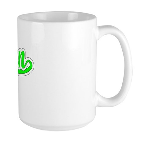 Retro Jaelyn (Green) Large Mug