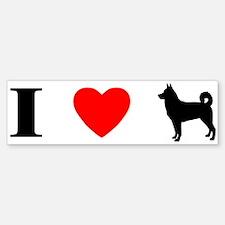 I Love Canaan Dogs Bumper Bumper Bumper Sticker