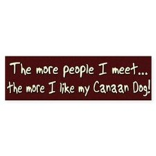 The More People Canaan Dog Bumper Bumper Sticker