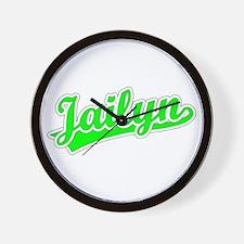 Retro Jailyn (Green) Wall Clock