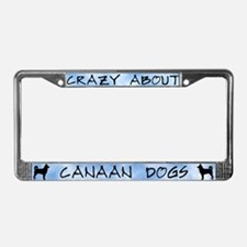Crazy About Canaan Dogs License Plate Frame