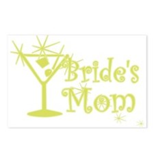 Yellow C Martini Bride's Mom Postcards (Package of