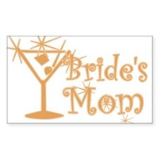 Orange C Martini Bride's Mom Rectangle Decal