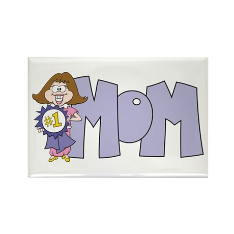 #1 Mom (3) Rectangle Magnet (100 pack)