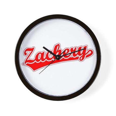 Retro Zachery (Red) Wall Clock
