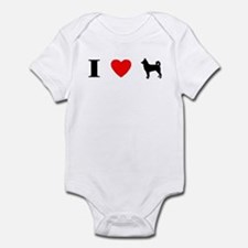 I Heart Canaan Dog Baby Bodysuit