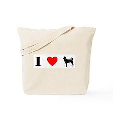 I Heart Canaan Dog Tote Bag