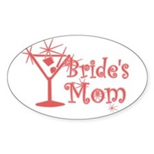 Red C Martini Bride's Mom Oval Decal