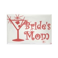 Red C Martini Bride's Mom Rectangle Magnet