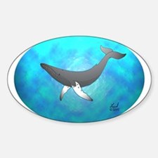 Humpback Whale Oval Decal