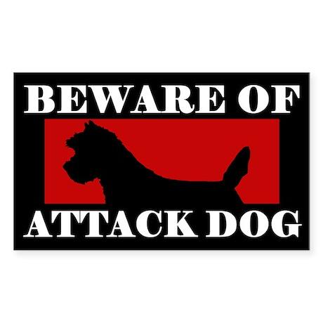 Beware of Attack Dog Cairn Terrier Sticker