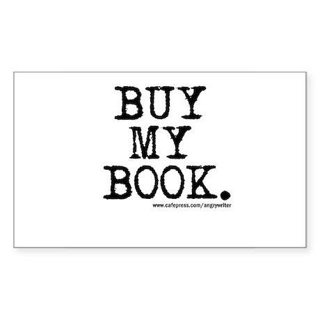 Buy My Book Rectangle Sticker