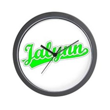 Retro Jalynn (Green) Wall Clock